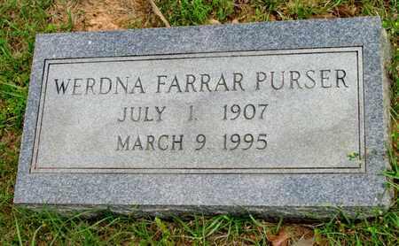 PURSER, WERDNA - Lafayette County, Arkansas   WERDNA PURSER - Arkansas Gravestone Photos