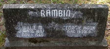 RAMBIN, WILLIE M - Lafayette County, Arkansas | WILLIE M RAMBIN - Arkansas Gravestone Photos