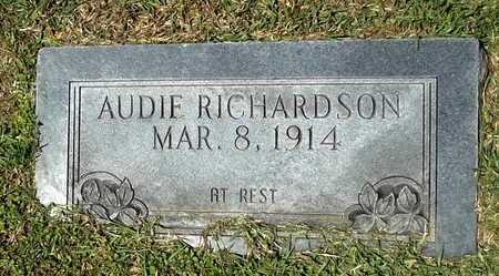 RICHARDSON, AUDIE - Lafayette County, Arkansas | AUDIE RICHARDSON - Arkansas Gravestone Photos