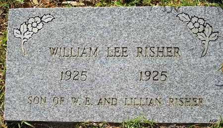 RISHER, WILLIAM LEE - Lafayette County, Arkansas | WILLIAM LEE RISHER - Arkansas Gravestone Photos