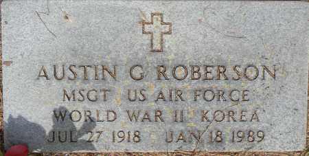 ROBERSON (VETERAN 2 WARS), AUSTIN G - Lafayette County, Arkansas   AUSTIN G ROBERSON (VETERAN 2 WARS) - Arkansas Gravestone Photos