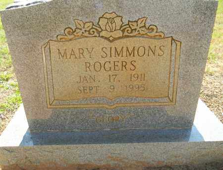 SIMMONS ROGERS, MARY - Lafayette County, Arkansas   MARY SIMMONS ROGERS - Arkansas Gravestone Photos