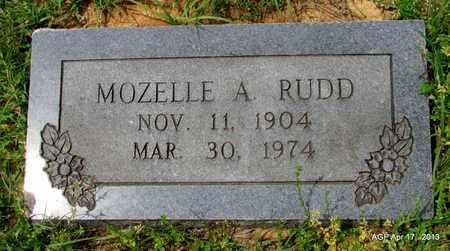 RUDD, MOZELLE A - Lafayette County, Arkansas | MOZELLE A RUDD - Arkansas Gravestone Photos