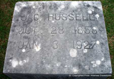 RUSSELL, J C - Lafayette County, Arkansas | J C RUSSELL - Arkansas Gravestone Photos