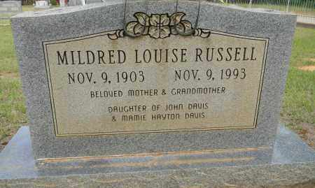 DAVIS RUSSELL, MILDRED LOUISE - Lafayette County, Arkansas | MILDRED LOUISE DAVIS RUSSELL - Arkansas Gravestone Photos