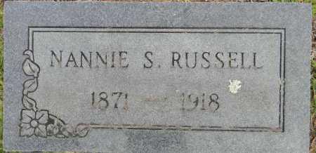 RUSSELL, NANNIE S - Lafayette County, Arkansas   NANNIE S RUSSELL - Arkansas Gravestone Photos
