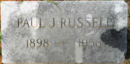 RUSSELL, PAUL J - Lafayette County, Arkansas | PAUL J RUSSELL - Arkansas Gravestone Photos