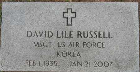 RUSSELL (VETERAN KOR), DAVID LILE - Lafayette County, Arkansas | DAVID LILE RUSSELL (VETERAN KOR) - Arkansas Gravestone Photos
