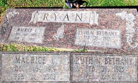 RYAN, MAURICE L. - Lafayette County, Arkansas | MAURICE L. RYAN - Arkansas Gravestone Photos