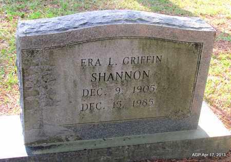 GRIFFIN SHANNON, ERA L - Lafayette County, Arkansas | ERA L GRIFFIN SHANNON - Arkansas Gravestone Photos