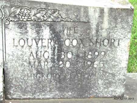 SHORT, LOUVERA (CLOSE UP) - Lafayette County, Arkansas | LOUVERA (CLOSE UP) SHORT - Arkansas Gravestone Photos