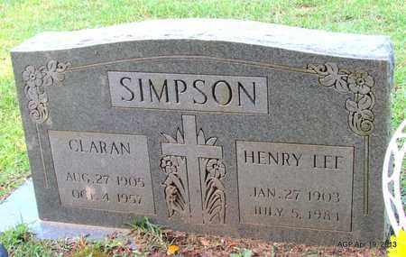 SIMPSON, CLARAN - Lafayette County, Arkansas | CLARAN SIMPSON - Arkansas Gravestone Photos