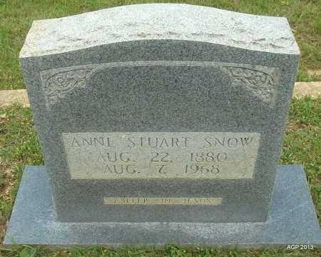STUART SNOW, ANNIE - Lafayette County, Arkansas | ANNIE STUART SNOW - Arkansas Gravestone Photos