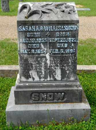 SNOW, WILLIS L - Lafayette County, Arkansas   WILLIS L SNOW - Arkansas Gravestone Photos