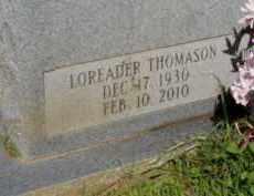 THOMASON STEVENS, LOREADER (CLOSEUP) - Lafayette County, Arkansas | LOREADER (CLOSEUP) THOMASON STEVENS - Arkansas Gravestone Photos
