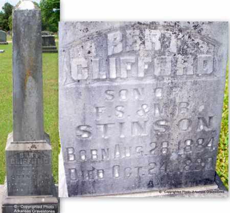 STINSON, BERT CLIFFORD - Lafayette County, Arkansas | BERT CLIFFORD STINSON - Arkansas Gravestone Photos