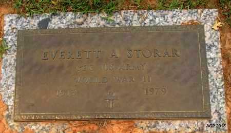 STORAR (VETERAN WWII), EVERETT A - Lafayette County, Arkansas   EVERETT A STORAR (VETERAN WWII) - Arkansas Gravestone Photos