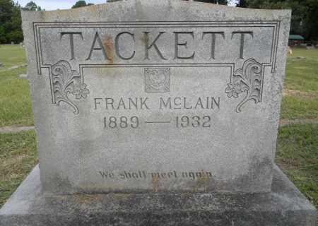 TACKETT, FRANK MCLAIN - Lafayette County, Arkansas   FRANK MCLAIN TACKETT - Arkansas Gravestone Photos