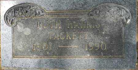 HARRIS TACKETT, RUTH - Lafayette County, Arkansas | RUTH HARRIS TACKETT - Arkansas Gravestone Photos