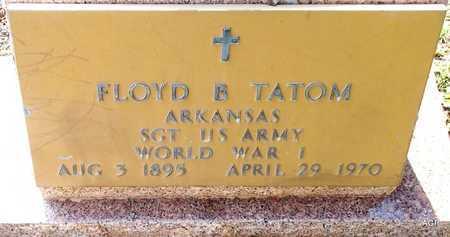 TATOM (VETERAN WWI), FLOYD B - Lafayette County, Arkansas   FLOYD B TATOM (VETERAN WWI) - Arkansas Gravestone Photos