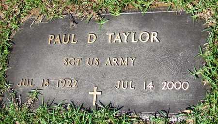 TAYLOR (VETERAN), PAUL D - Lafayette County, Arkansas | PAUL D TAYLOR (VETERAN) - Arkansas Gravestone Photos