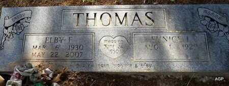 THOMAS, ELBY F - Lafayette County, Arkansas   ELBY F THOMAS - Arkansas Gravestone Photos