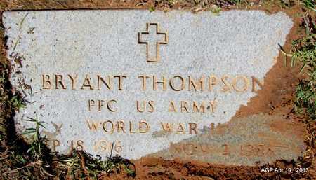 THOMPSON (VETERAN WWII), BRYANT - Lafayette County, Arkansas | BRYANT THOMPSON (VETERAN WWII) - Arkansas Gravestone Photos