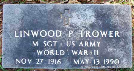 TROWER (VETERAN WWII), LINWOOD P - Lafayette County, Arkansas | LINWOOD P TROWER (VETERAN WWII) - Arkansas Gravestone Photos