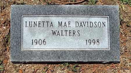 DAVIDSON WALTERS, LUNETTA MAE - Lafayette County, Arkansas   LUNETTA MAE DAVIDSON WALTERS - Arkansas Gravestone Photos