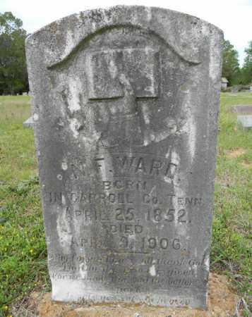 WARD, N F - Lafayette County, Arkansas | N F WARD - Arkansas Gravestone Photos