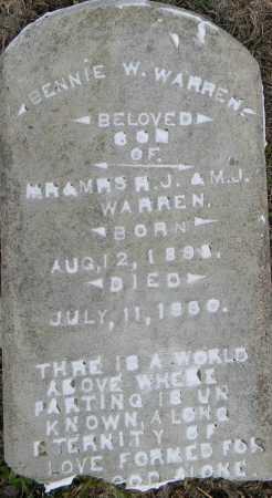 WARREN, BENNIE W - Lafayette County, Arkansas | BENNIE W WARREN - Arkansas Gravestone Photos