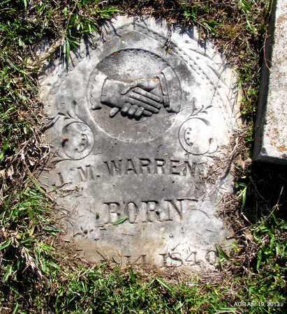 WARREN, J. M. - Lafayette County, Arkansas | J. M. WARREN - Arkansas Gravestone Photos