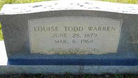 WARREN, LOUISE - Lafayette County, Arkansas   LOUISE WARREN - Arkansas Gravestone Photos