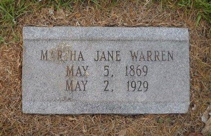WARREN, MARTHA JANE - Lafayette County, Arkansas   MARTHA JANE WARREN - Arkansas Gravestone Photos