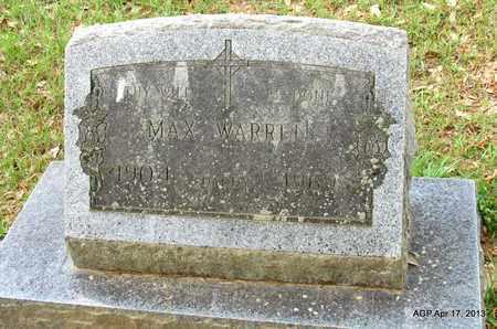 WARREN, MAX - Lafayette County, Arkansas | MAX WARREN - Arkansas Gravestone Photos