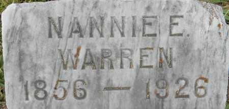WARREN, NANNIE E - Lafayette County, Arkansas | NANNIE E WARREN - Arkansas Gravestone Photos