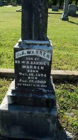 WARREN, O A (CLOSE UP) - Lafayette County, Arkansas   O A (CLOSE UP) WARREN - Arkansas Gravestone Photos