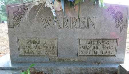 WARREN, PETER A - Lafayette County, Arkansas | PETER A WARREN - Arkansas Gravestone Photos
