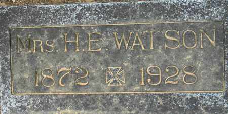 WATSON, H. E., MRS - Lafayette County, Arkansas | H. E., MRS WATSON - Arkansas Gravestone Photos