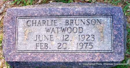 WATWOOD, CHARLIE BRUNSON - Lafayette County, Arkansas | CHARLIE BRUNSON WATWOOD - Arkansas Gravestone Photos