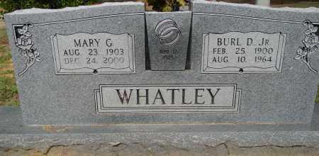WHATLEY, JR, BURL D - Lafayette County, Arkansas | BURL D WHATLEY, JR - Arkansas Gravestone Photos