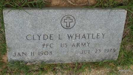WHATLEY (VETERAN), CLYDE L - Lafayette County, Arkansas   CLYDE L WHATLEY (VETERAN) - Arkansas Gravestone Photos