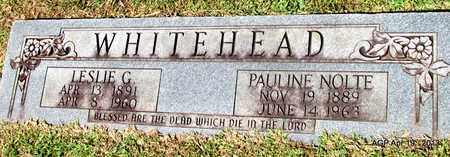 WHITEHEAD, LESLIE G. - Lafayette County, Arkansas   LESLIE G. WHITEHEAD - Arkansas Gravestone Photos