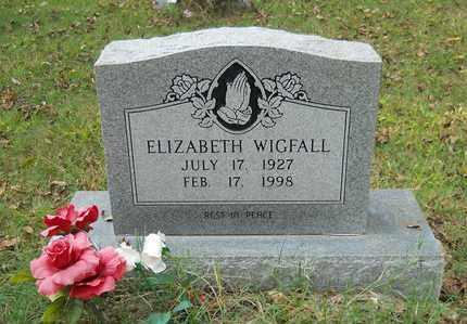 WIGFALL, ELIZABETH - Lafayette County, Arkansas   ELIZABETH WIGFALL - Arkansas Gravestone Photos