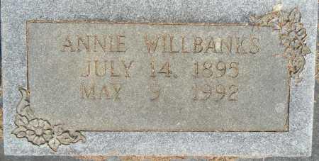 WILLBANKS, ANNIE - Lafayette County, Arkansas | ANNIE WILLBANKS - Arkansas Gravestone Photos
