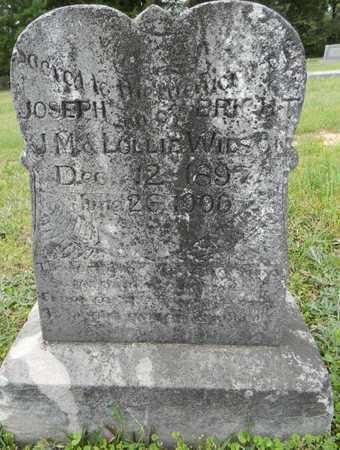 WILSON, JOSEPH BRIGHT - Lafayette County, Arkansas | JOSEPH BRIGHT WILSON - Arkansas Gravestone Photos