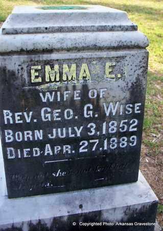 WISE, EMMA E - Lafayette County, Arkansas   EMMA E WISE - Arkansas Gravestone Photos