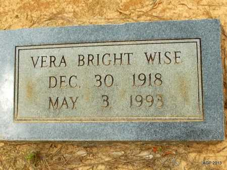 BRIGHT WISE, VERA - Lafayette County, Arkansas   VERA BRIGHT WISE - Arkansas Gravestone Photos