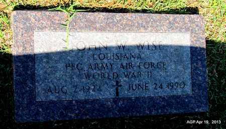 WISE (VETERAN WWII), JOHN W - Lafayette County, Arkansas   JOHN W WISE (VETERAN WWII) - Arkansas Gravestone Photos