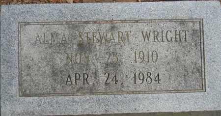 WRIGHT, ALMA (CLOSEUP) - Lafayette County, Arkansas | ALMA (CLOSEUP) WRIGHT - Arkansas Gravestone Photos